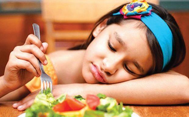 Falta de apetite em crianças