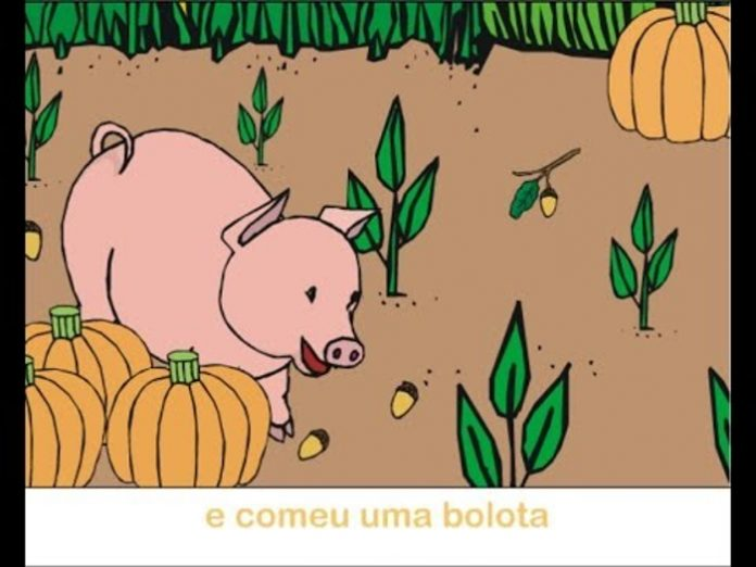 Lengalenga infantil: o porquinho foi à horta